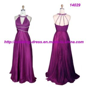 Purpal Halter Evening Prom Dresses pictures & photos