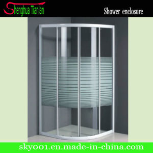 Aluminum Frameless Tempered Fiberglass Bathroom Glass Shower Screen (TL-512) pictures & photos
