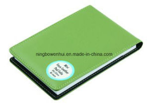Custom Business PU Leather Pocket Padfolio with Pen Holder pictures & photos