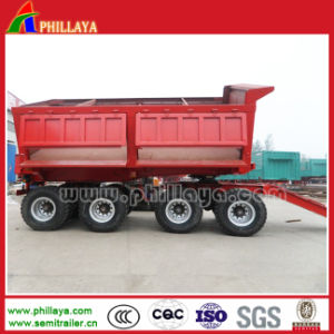 Hydraulic Tipping Truck Full Drawbar Trailer for Sale pictures & photos