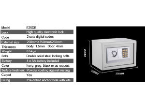 Electronic Safe Box for Home and Business pictures & photos