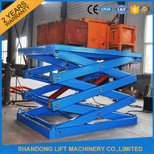 2ton 2.2m Warehouse Scissor Hydraulic Weight Lifting Equipment with Ce pictures & photos