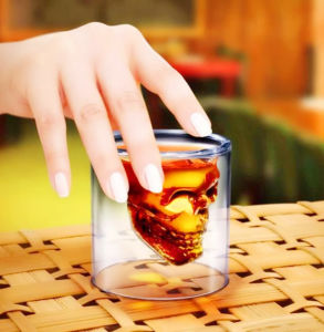 74ml Party Use Creative Double Wall Glass Whisky Cup pictures & photos