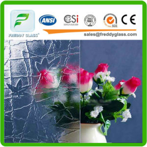 3-12mm Crossquare Clear Patterned/Rolled/Figured Glass for Decoration in Good Quality pictures & photos