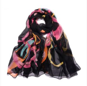 2016 Newest Style Fashion Silk Printed Scarf for Women Bss1026