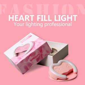 38 LED Selfie Rechargeable Heart Light with Mirror for Smartphones pictures & photos