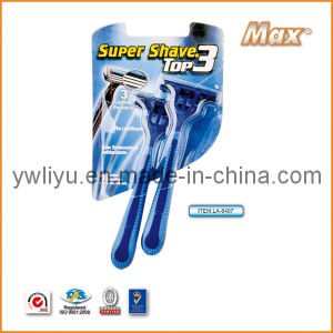 Popular in Brazil Stainless Steel Triple Blade Disposable Shaving Razor (LA-8407) pictures & photos