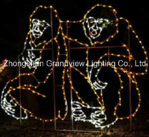 LED Gorilla Motif Lights for Xmas Illumination and Decorations pictures & photos