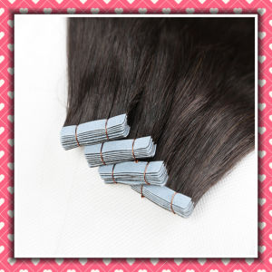 Top Quality Virgin Hair Tape Hair Skin Weft Straight 18inch pictures & photos