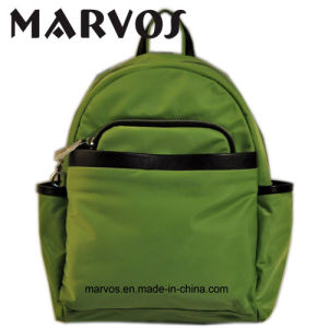 Fabric/Cow Leather Backpack Bag China Supplier OEM (BS1603-7)