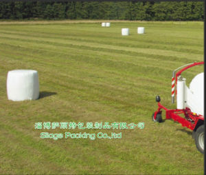 500mm Agricultural Silage Wrap Bale Film Made in China White, Eco Green, Black Colour pictures & photos