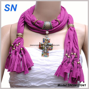 2015 ODM Fashion Pendant Scarf (SNSMQ1041) pictures & photos