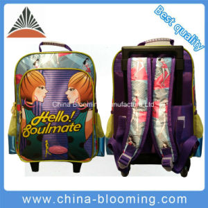 Student Back to School Wheeled Trolley Rolling Backpack Bag pictures & photos