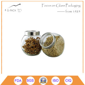 Glass Food Storage Container with Metal Cap pictures & photos