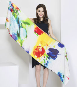 Ladies Fashion Silk Scarf, Digital Print Scarf pictures & photos