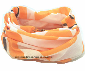 Custom Made Logo Printed Elastic UV Protection Polyester Neck Tube Scarf Headwear pictures & photos