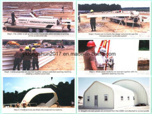 Ultimate Building Machine 240 Span Roll Forming Machine for Multi Shapes Steel Buildings pictures & photos