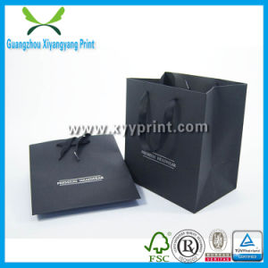 High Quality Luxury Custom Matte Colored Paper Shopping Bags Wholesale pictures & photos