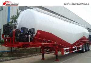 3 Axles 50cbm Cement Transport Semi Tanker Trailer pictures & photos