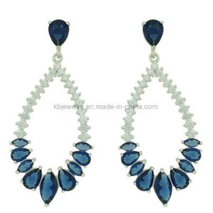 Fashion Style Brass Jewelry Silver Earrings Plated Eardrop (KE3098) pictures & photos