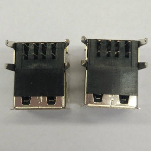 Stack USB 2.0 Female 90 Degree DIP Black pictures & photos