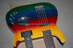 Hanhai Music / Double Neck Electric Bass Guitar with Colorful Body pictures & photos
