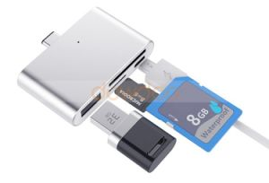 USB C Hub Type C SD Card Reader OTG Memory Adapter for MacBook Chromebook Micro iPhone iPad pictures & photos