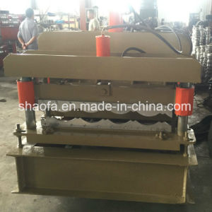 Hydraulic Pressing/Cutting PPGI Glazed Roof Tile Roll Forming Machine pictures & photos
