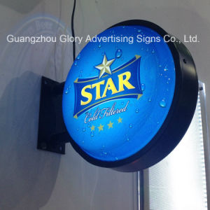 Double Sides Round Mtn LED Light Box for LED Display pictures & photos