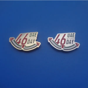 2017 UAE National Day New Gifts Magnet Metal Badges Pins Brooch, 46 Years UAE National Day Lapel Pins Emblem pictures & photos