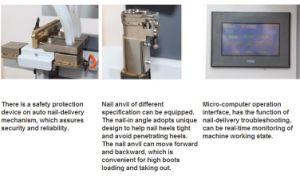 Full-Automatic Shoe Heel Nailing Machine Shoe Machine pictures & photos