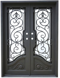 Forged Double Entry Door with Heavy Duty Hinges (UID-D055) pictures & photos