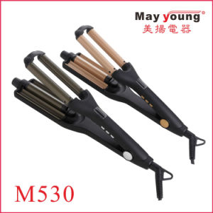 2017 New Products Adjustable 3 Barrel Waver Triple Barrel Hair Curling Iron Hair Curler pictures & photos