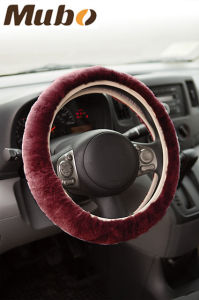 Universal Matching Sheepskin Steering Wheel Cover pictures & photos