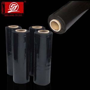 Excellent Tear Resistant 6000m Corloful LLDPE Stretch Film Black Film pictures & photos