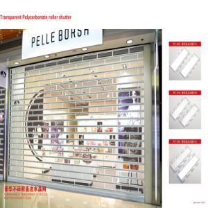 Transparent Polycarbonate Crystal Roller Shutter Door for Shopping Mall (HF-1000) pictures & photos