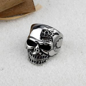 Hot Sale Punk Biker Jewelry Men Stainless Steel Skull Ring pictures & photos