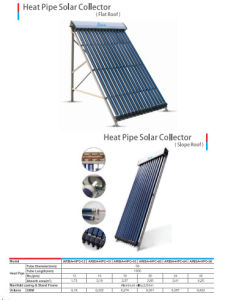 Heat Pipe Vacuum Tube Solar Collector pictures & photos