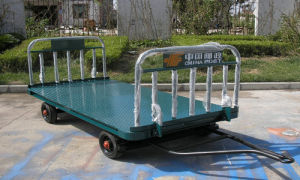 Airport Aviation Two Rail Baggage Cart pictures & photos