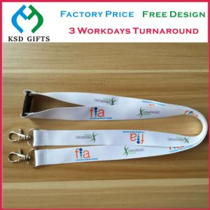 Factory Cheap Custom Printed/Woven/Heat-Transfer Neck Lanyard with Oval Loop pictures & photos