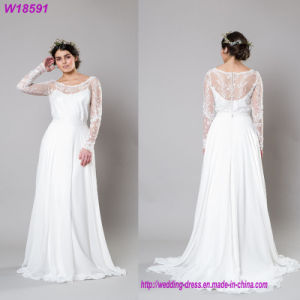 2017 White Lace Appliqued Mermaid Trailing Bridal Gown Wedding Dress pictures & photos