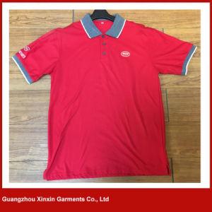2017 Hot Design 95% Cotton 5% Spandex Bicolor Long Sleeves Polo T Shirts (P111) pictures & photos