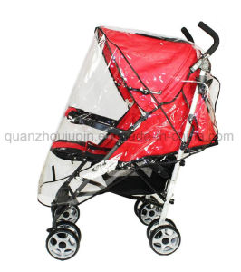 OEM PVC Waterproof Transparent Baby Stroller Rain Cover pictures & photos