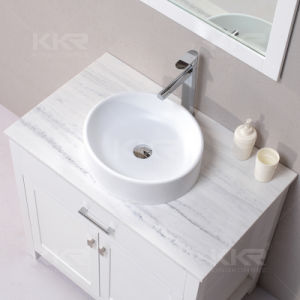 White Rectangular Solid Surface Wash Basin pictures & photos