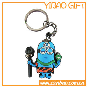 Custom Logo PVC Keychain for Promotion Gift (YB-LY-K-12) pictures & photos