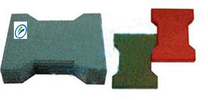 Dog Bone Color Rubber, Rubber Floor Tile