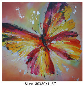Decoration Art Butterfly Painting on Canvas (LH-700608) pictures & photos
