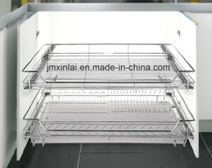 Stainless Steel Kitchen Basket Pull out Basket Dish Rack