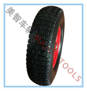 16 Inch Iron Spoke Polyurethane Foam Wheel Used for Agricultural Vehicle Wheel, Garden Tool Wheel, etc. pictures & photos