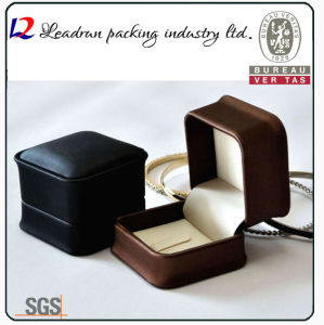 Leather Velvet Jewelry Storage Box Jewellery Ring Packing Gift Box (Ys309)